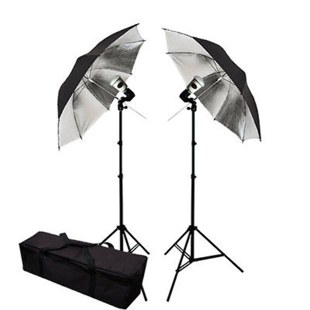 33 Quot Photo Studio Silver Umbrella Flash Lighting Kit