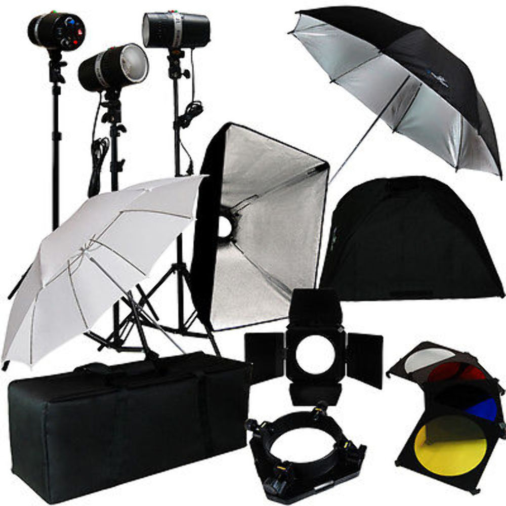 3 Studio Photo Flash Strobe Light Stand Kit w/ Softbox Umbrella Lighting Photo  sc 1 st  eBay & 3 Studio Photo Flash Strobe Light Stand Kit w/ Softbox Umbrella ...