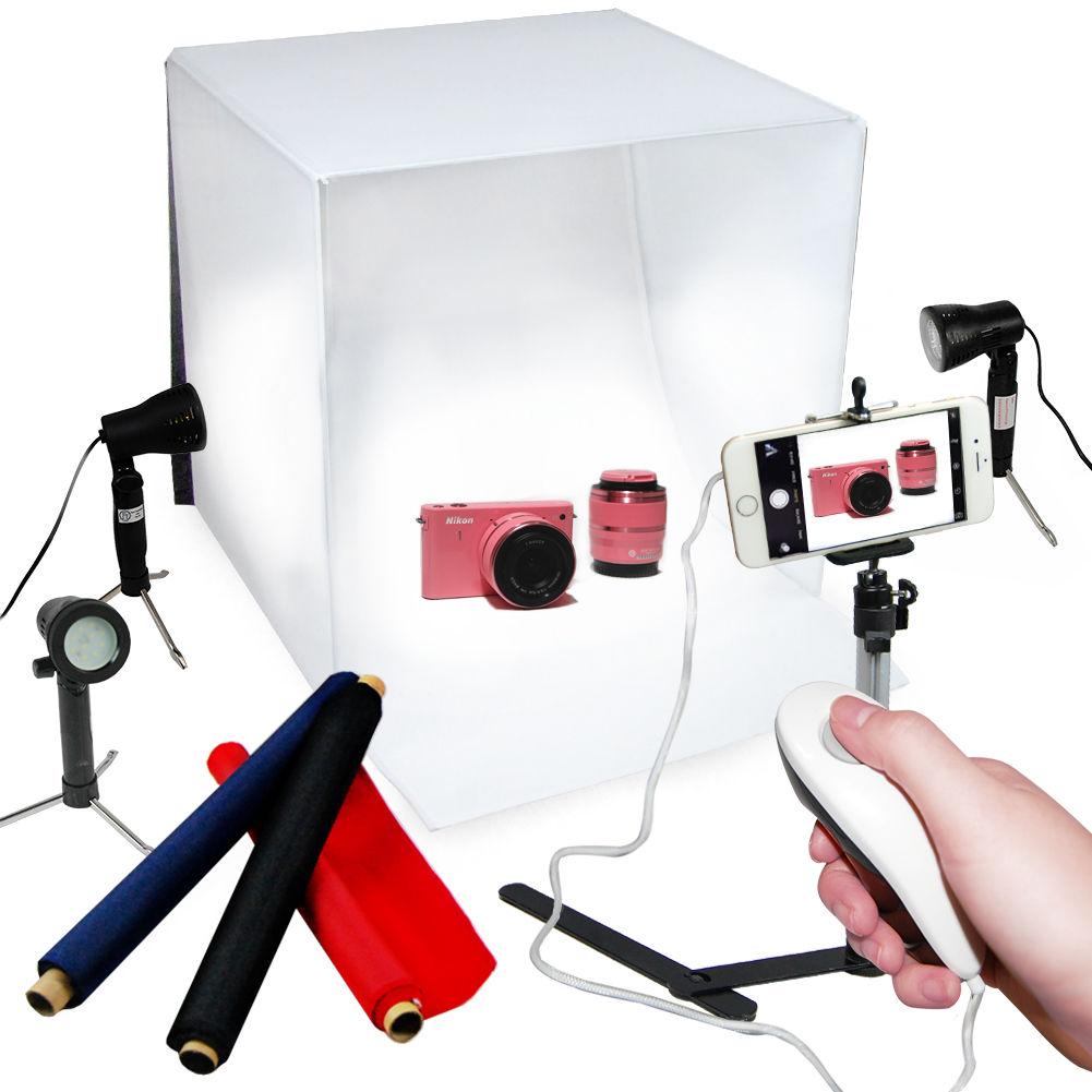 "Studio Lighting Kit Argos: 24"" Photography Light Box LED Photo Studio Continuous"