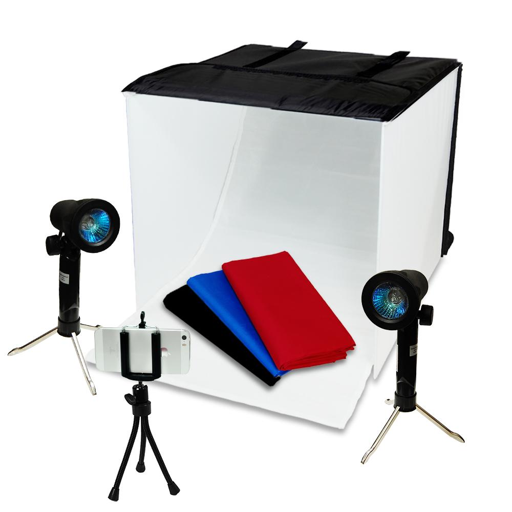 Lusana Photo Studio Photography Table Top Photo Box Light