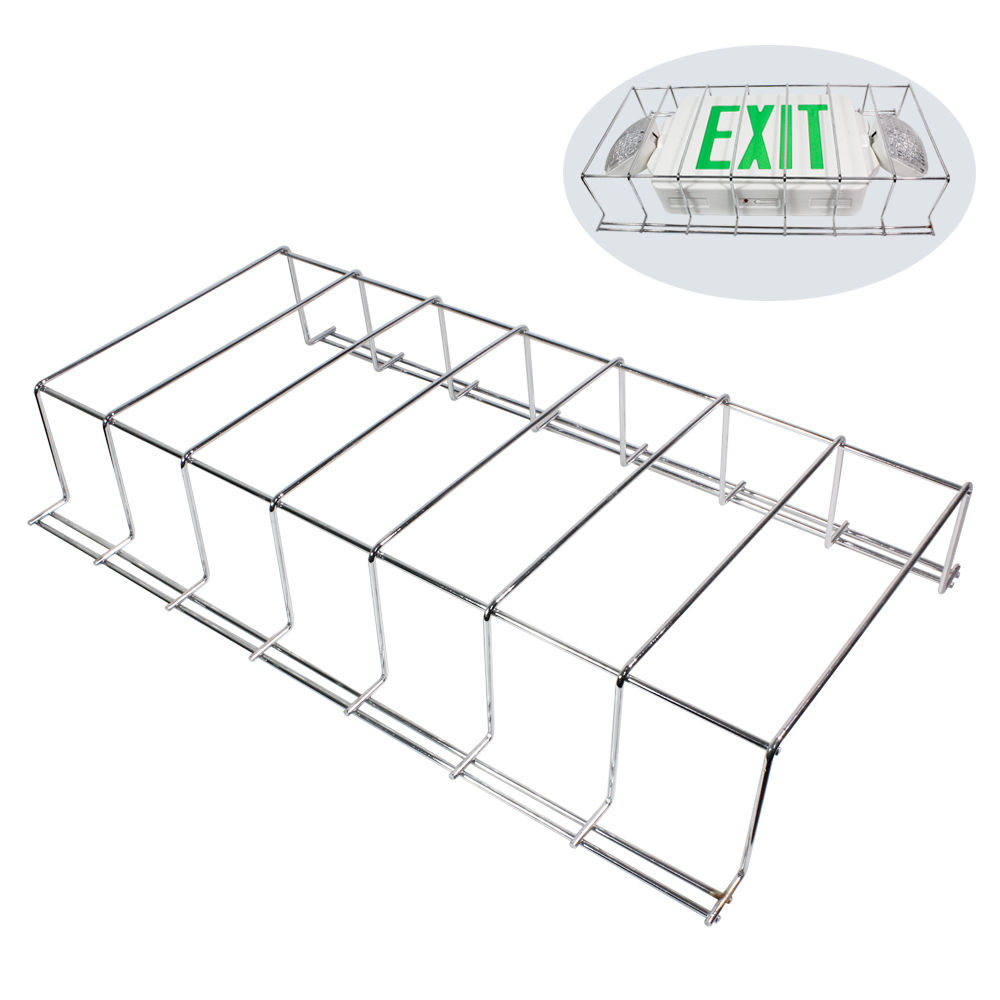 Wire guard metal cage cover led exit sign emergency light wire guard metal cage cover led exit sign arubaitofo Gallery