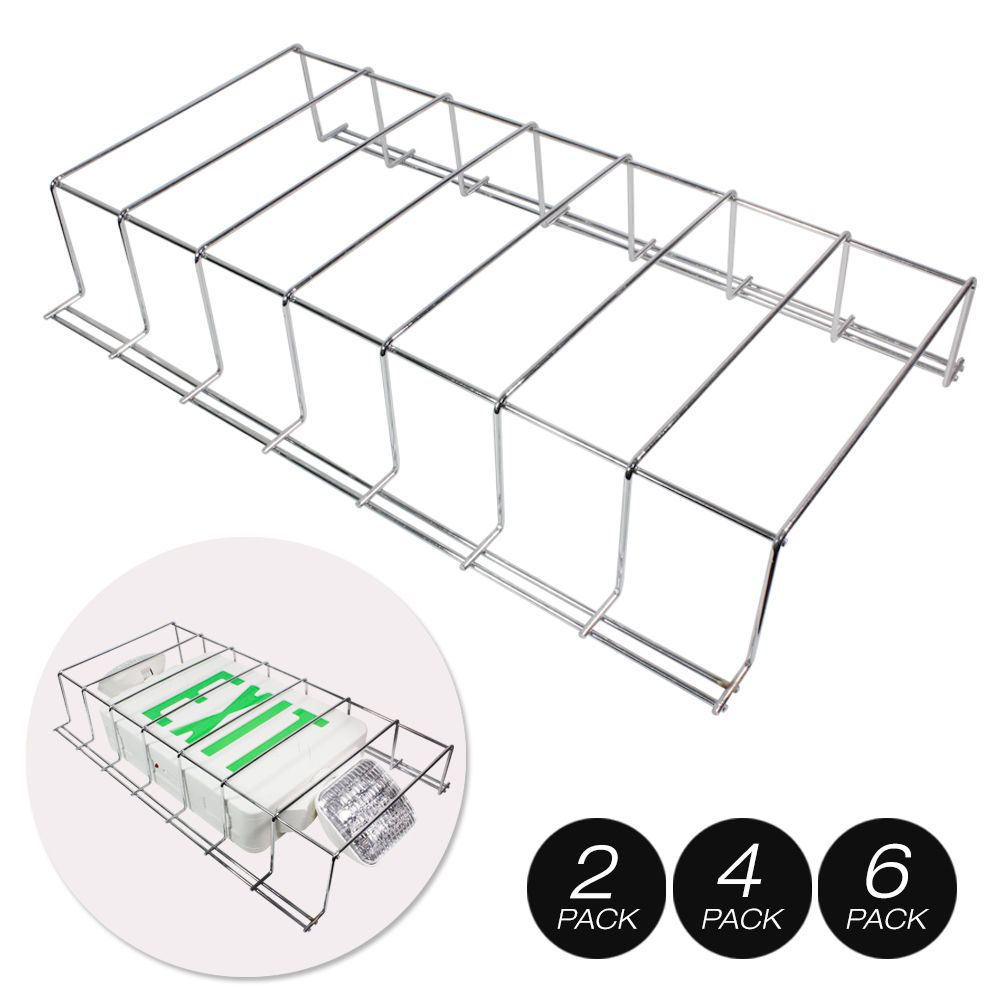 Wire guard metal cage cover led exit sign emergency light fixture picture 2 of 5 arubaitofo Images