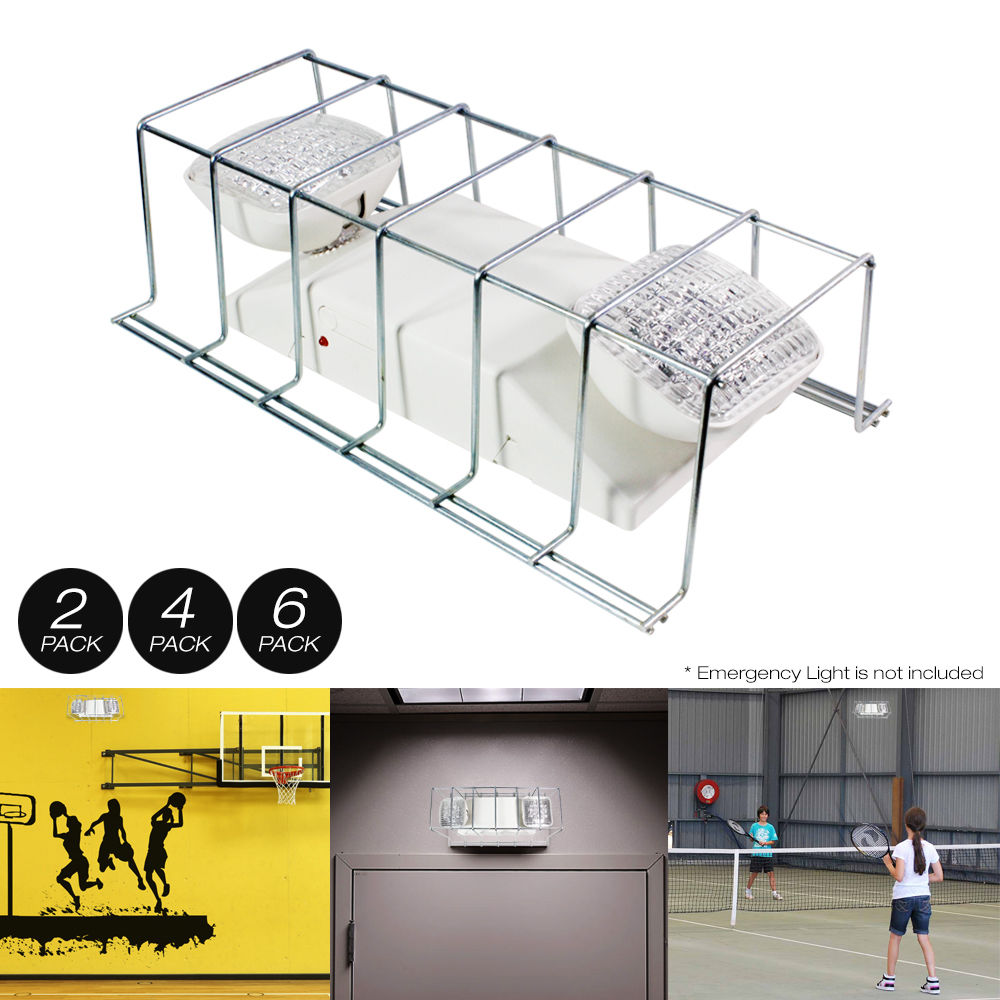 246 pack wire guard metal cage cover for light fixtureexit sign 246 pack wire guard metal cage cover for light fixtureexit sign 16x9 arubaitofo Gallery