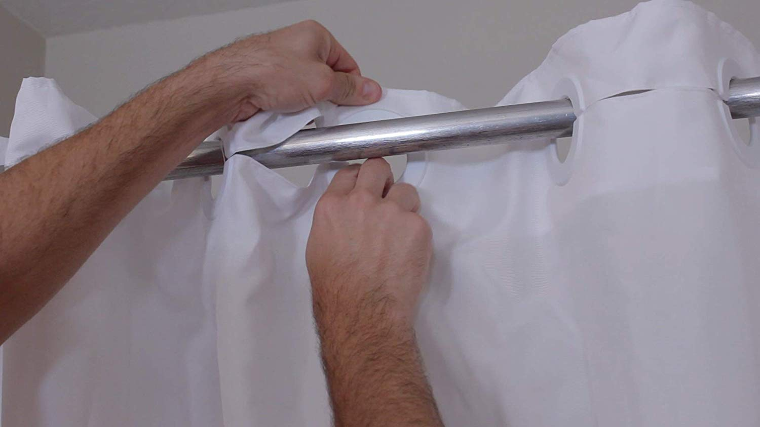 thumbnail 5 - BenchMate Split Shower Curtain Ideal for Bath Transfer Bench Shower Chair Safety