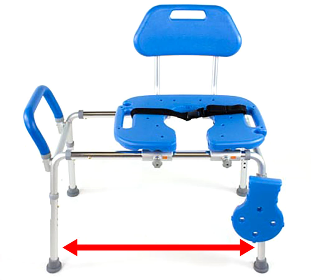 HydroGlyde Premium Sliding Bath Transfer Bench Shower Chair ...
