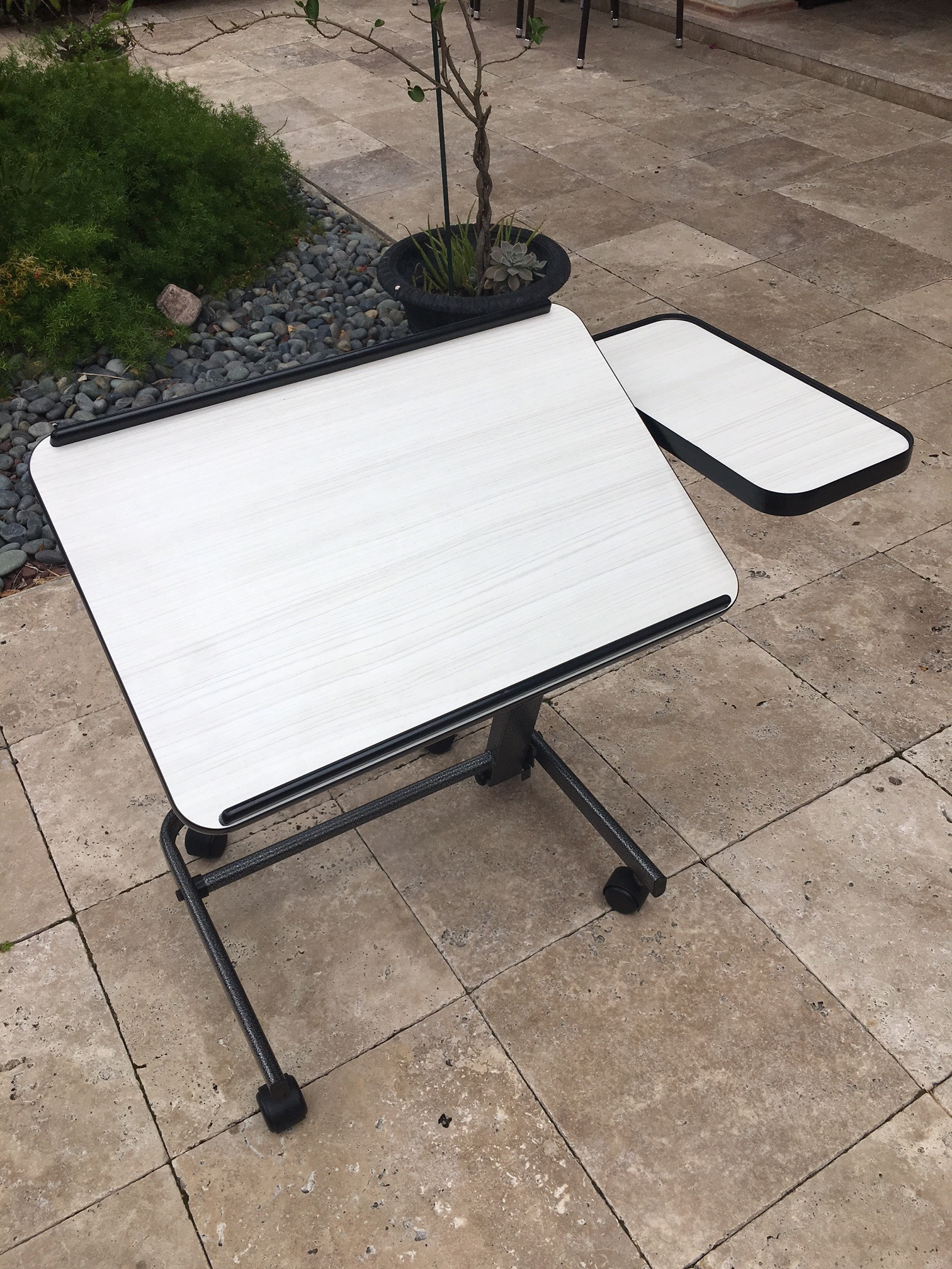 Acrobat Overbed Laptop Table W Side Table Tilts