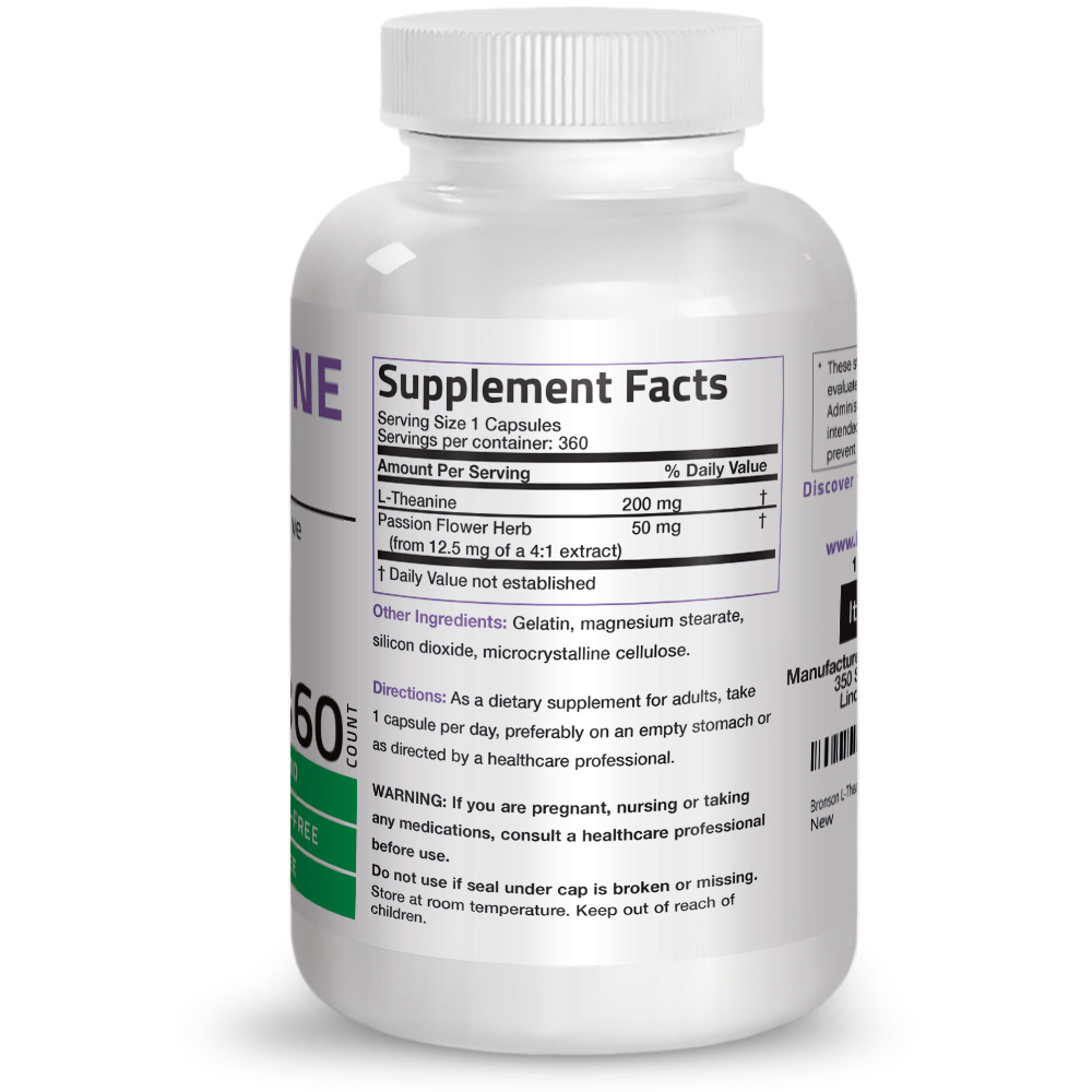 L-Theanine-200-mg-Reduce-Stress-Non-GMO-Gluten-Free-Soy-Free-Formula thumbnail 15