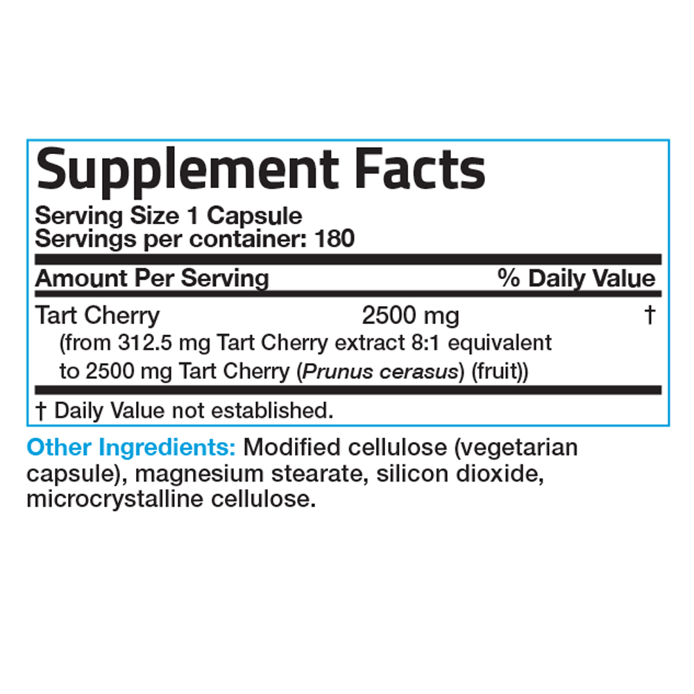 Tart-Cherry-Extract-2500mg-Non-GMO-Gluten-Free-Soy-Free-with-Antioxidants thumbnail 6