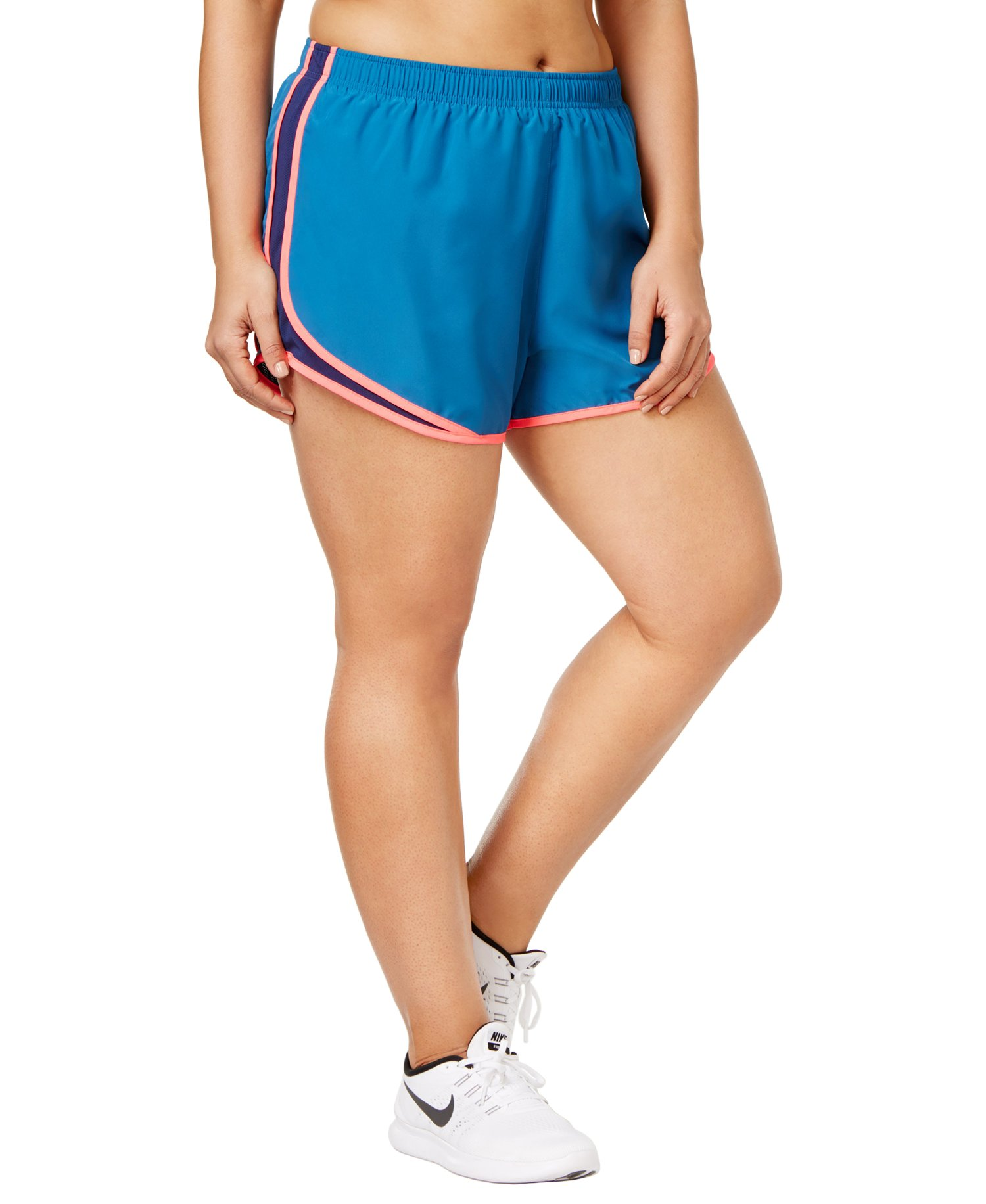 Details about Nike Women's Plus Size Tempo Running Fitness Shorts Binary Blue 3 Extra Large