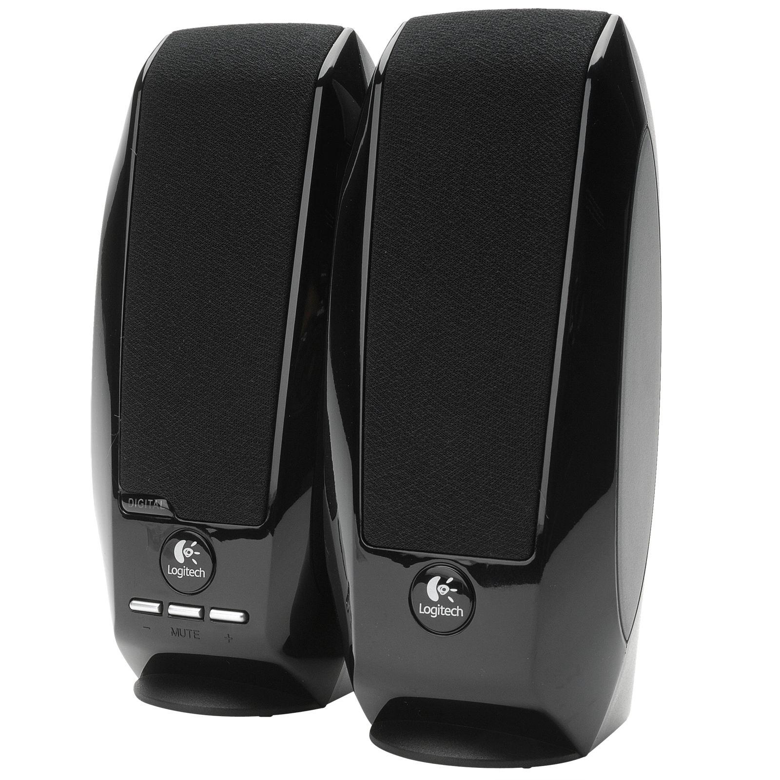 Logitech 980 000012 s120 2 piece black desktop computer speaker set - Logitech S150 Usb Speakers With Digital Sound