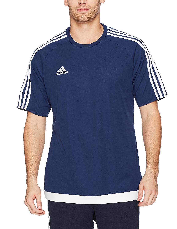 c49b4cfa6 Adidas Boys Estro 15 Jersey T-Shirt Dark Blue/White Size Youth Extra Large