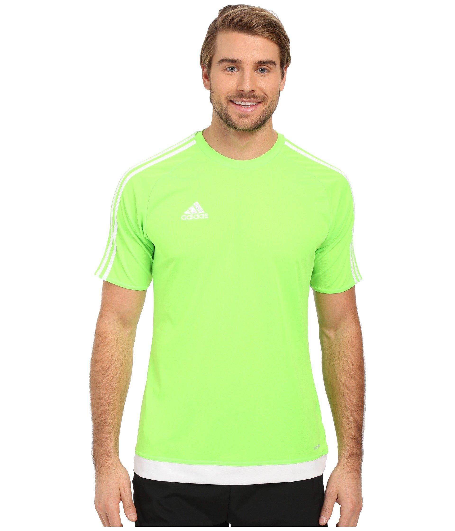 c7b2b22ea Adidas Boys Estro 15 Jersey T-Shirt Solar Green/White Size Youth Large