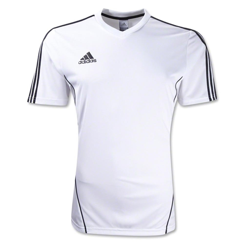 Details about Adidas Boys Estro 12 Soccer Jersey T Shirt WhiteBlack Size Youth