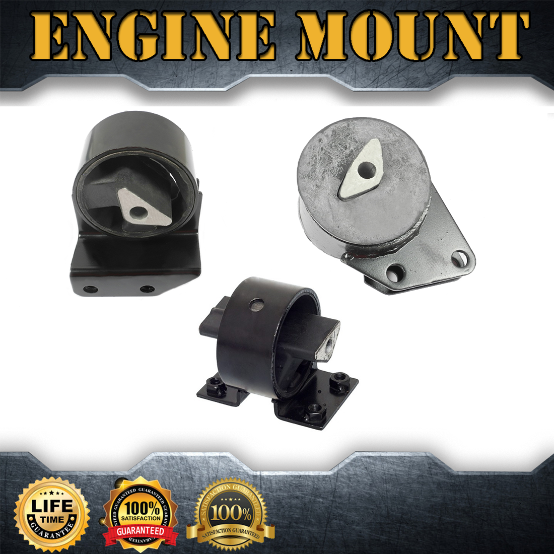 Brand New For 93-98 Jeep Grand Cherokee 5.2L Front Left Engine Motor Mount 2809