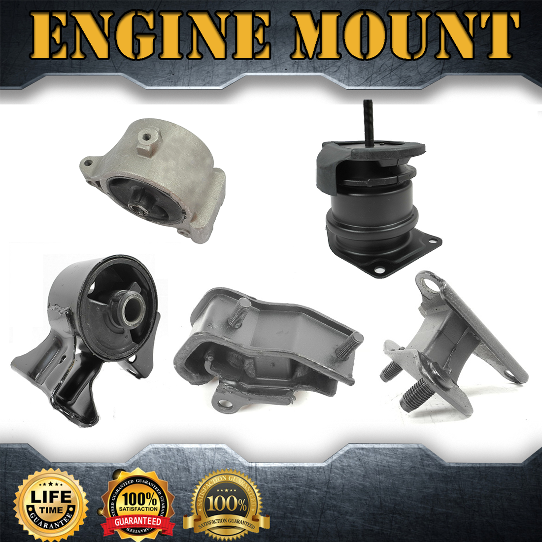 5X Engine Mount & Auto Trans Mount Set Kit For 2000-2003