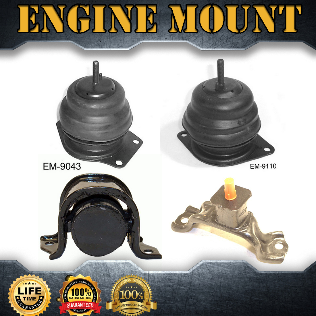 4X Engine Mount & Auto Trans Mount Set Kit For 1987-1988