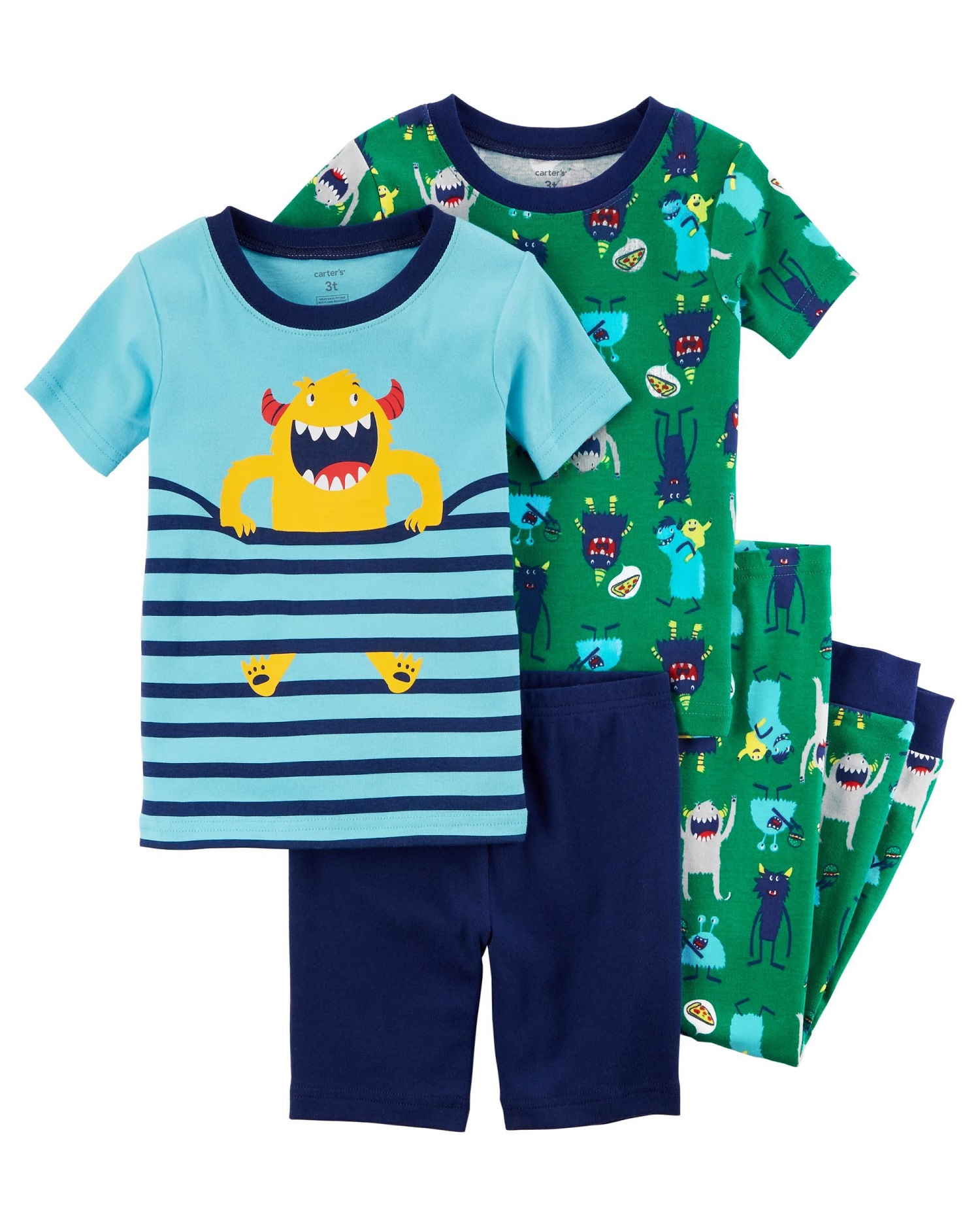 3db7112ce282 Carter s Baby Boys  4-Piece Snug Fit Cotton PJs