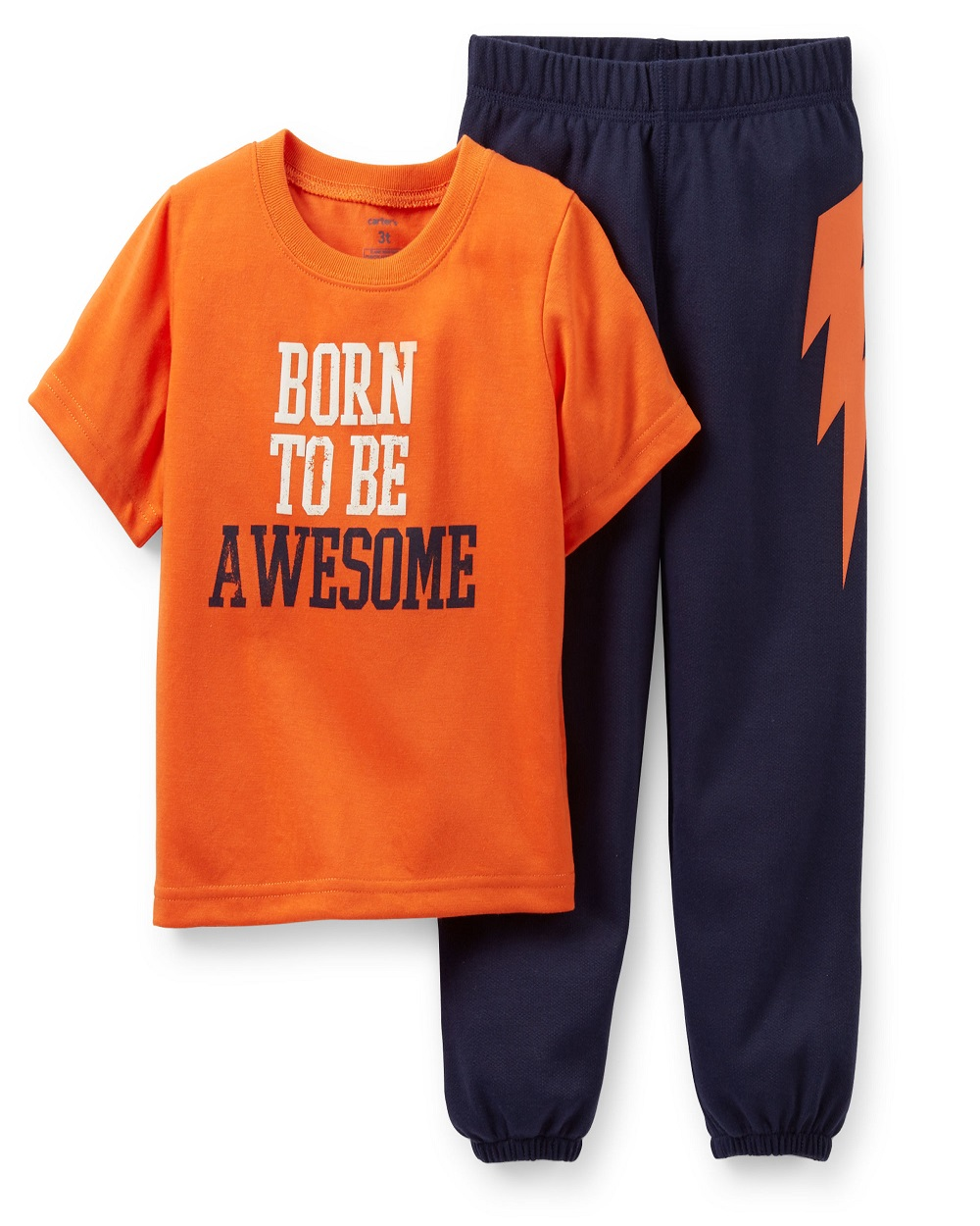 Carters Little Boys 2 Piece Pajama Set Born to Be Awesome