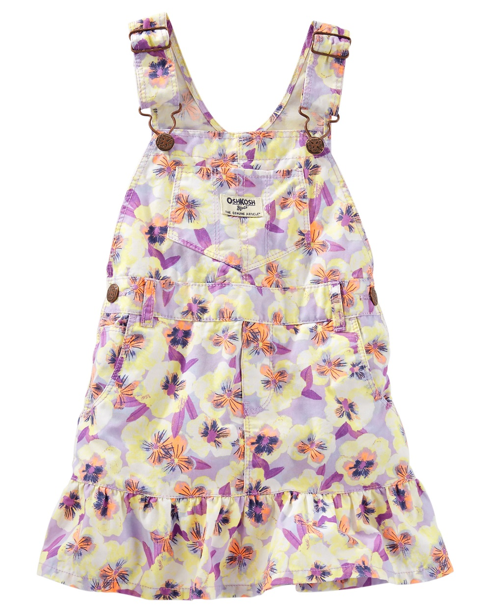 "Floral 9 months OshKosh Baby Girls/' /""Flowery Flounce/"" Overall Skirt"