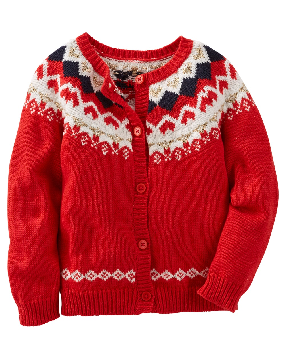 OshKosh B'gosh Baby Girls' Sparkle Fair Isle Sweater, 9 Months | eBay