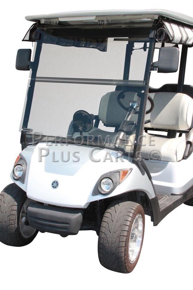 Tinted Fold Down Golf Cart Windshield For Yamaha Drive G29