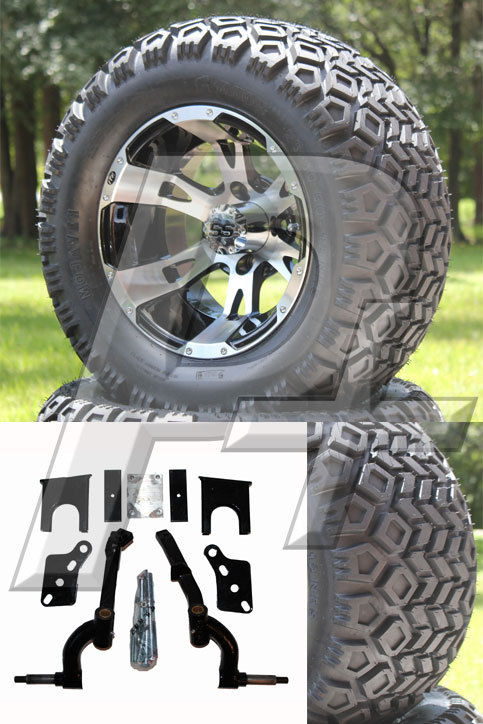 Club Car Ds Golf Cart Lift Kit Tire And Wheel Combo 2003