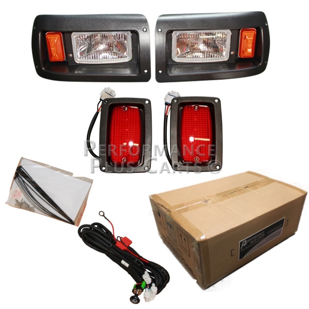 Club Car Wiring Diagram Lights : Club car golf cart headlight and tail light kit with