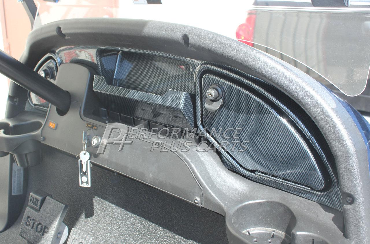 Club Car Precedent Golf Cart Carbon Fiber Dash Kit For 2008 5 And