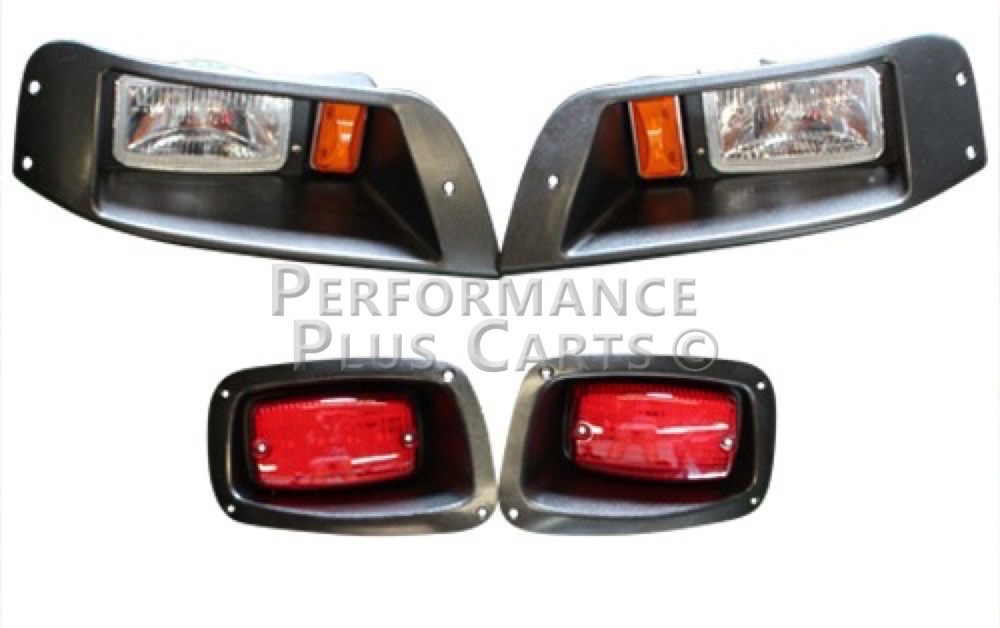 Golf Cart Headlights : Ezgo golf cart headlight and tail light kit w hardware ebay