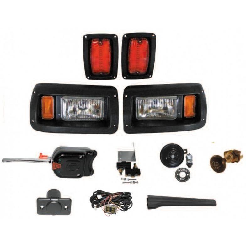 club car ds golf cart headlight kit with turn signals brake switch horn 12v o ebay. Black Bedroom Furniture Sets. Home Design Ideas