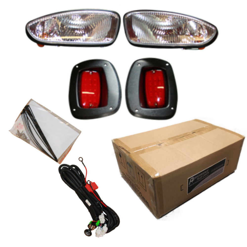Golf Cart Headlights : Ezgo rxv golf cart headlight and tail light kit with
