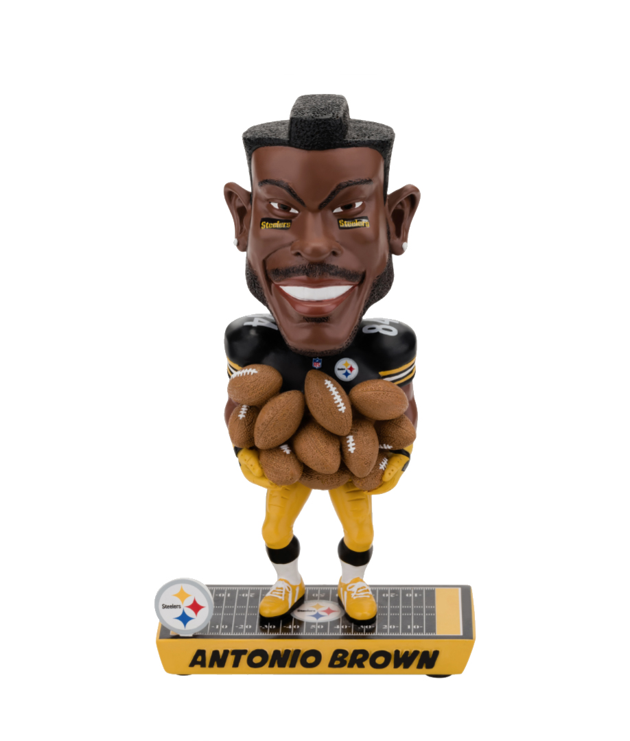 d3ed375dbb2 Antonio Brown (Pittsburgh Steelers) NFL Caricature Bobble Head by Forever  Collectibles