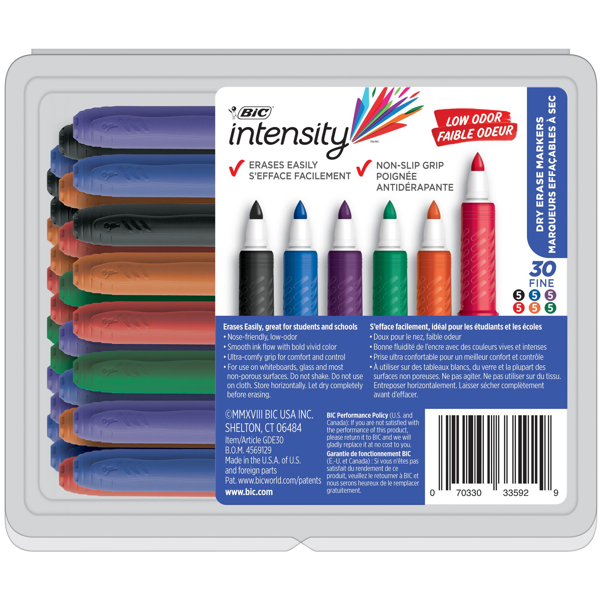 Fine Point 12 Count Bic Great Erase Grip Dry Erase Marker