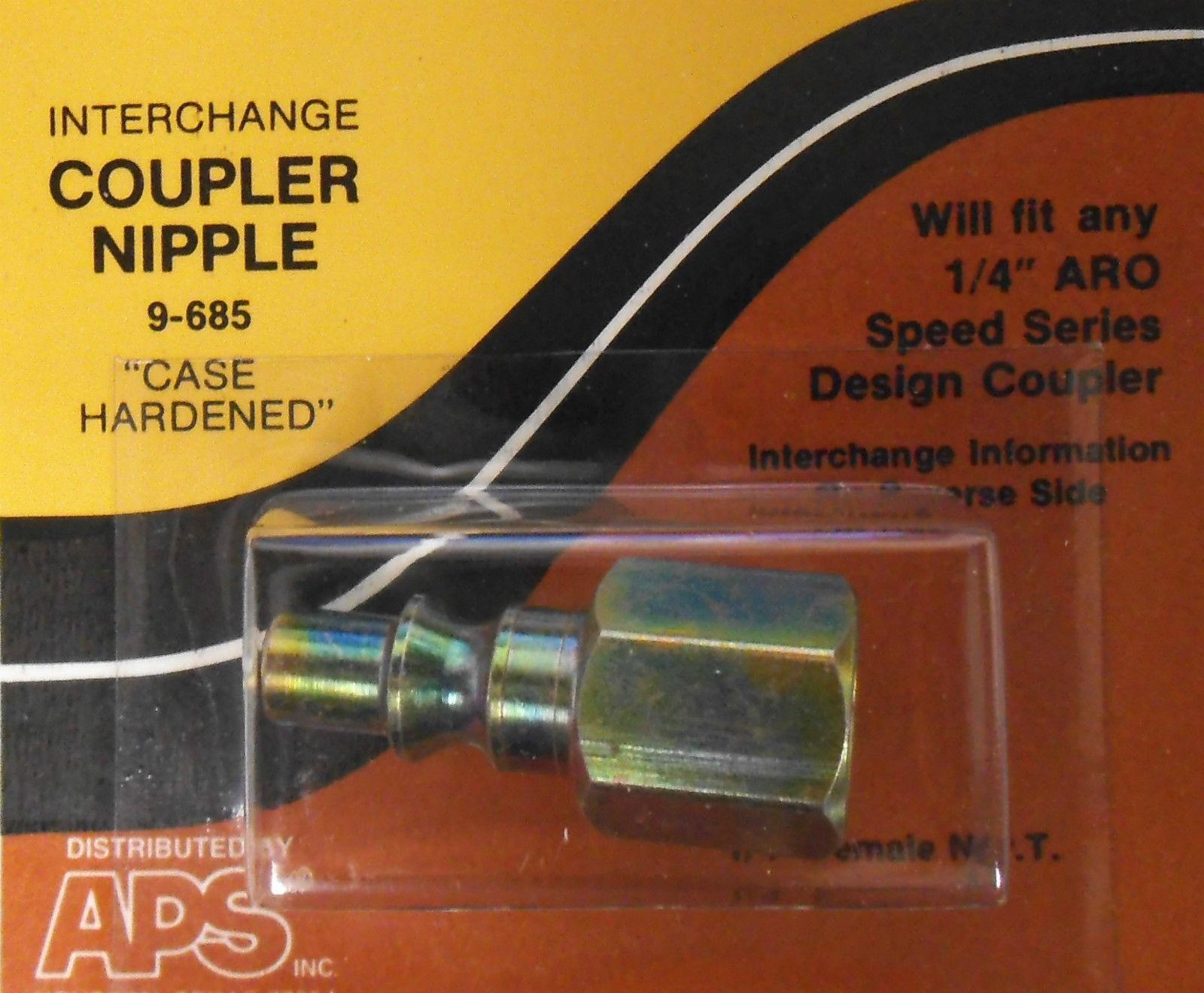 """9-685 1//4/"""" ARO Speed Series Design Nipple Coupler Female C38 2609 61-529 9-851"""
