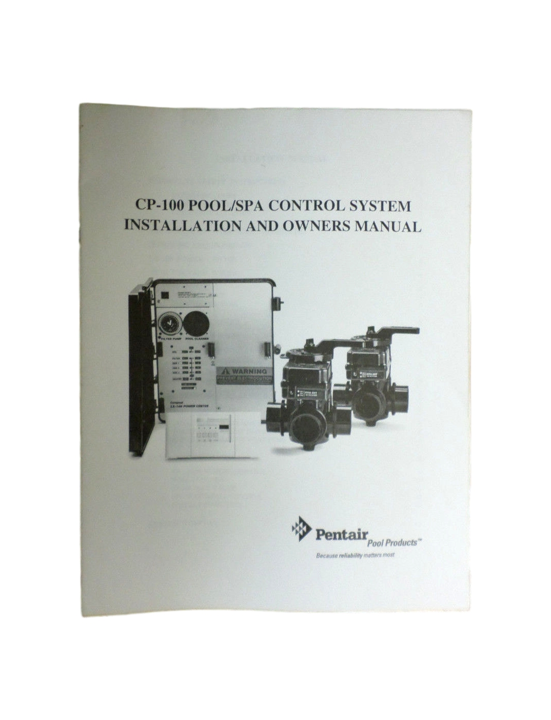 Details about Pentair CP-100 Pool/Spa Control System Original Owners Manual  Installation Guide