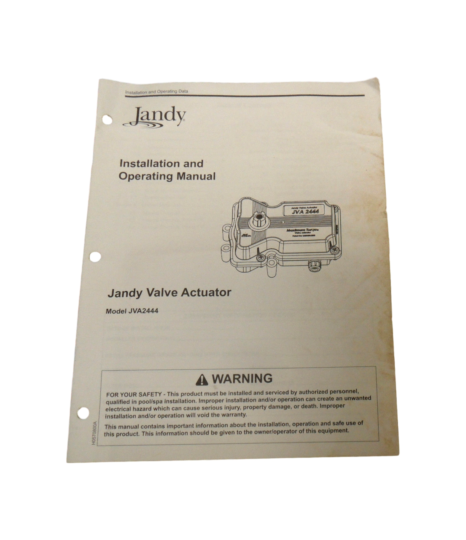 Jandy Jva244 Jva 2444 Valve Actuator Installation Owners Manual Wiring Diagram Responsive Image