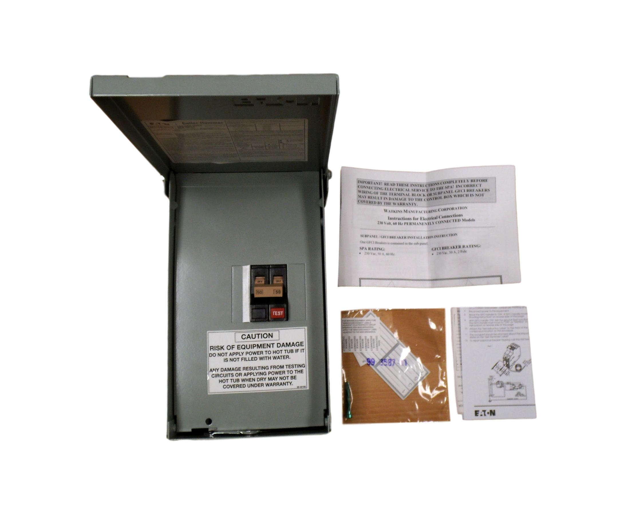 Watkins Wiring Panel Block And Schematic Diagrams 50 Amp Hot Tub Eaton 301758 230v Subpanel 4 Circuit Breaker Box Rh Ebay Com Sub