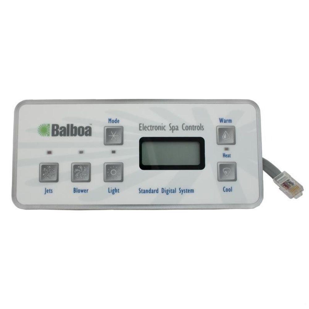 Balboa 51057-01 Standard Digital Jacuzzi F108//109 Topside Control Panel