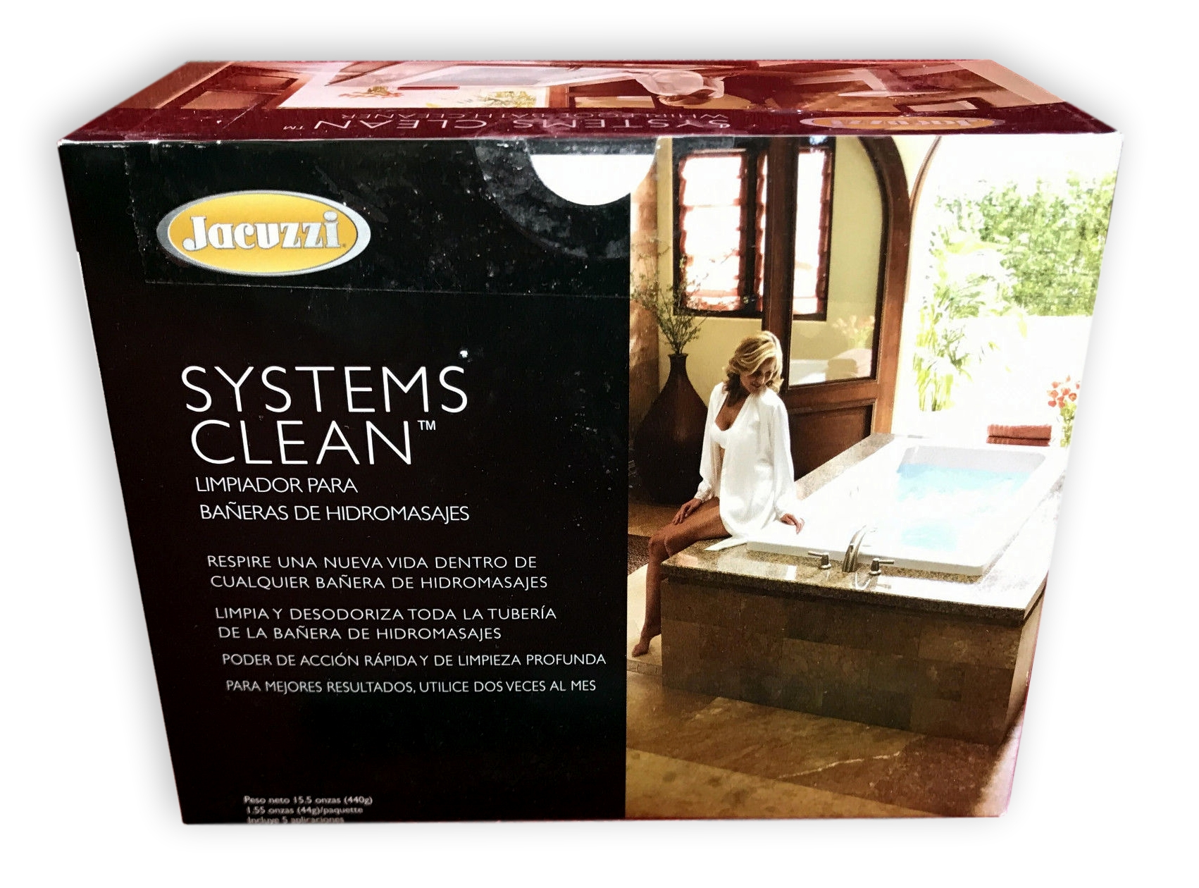 Jacuzzi T627000 Systems Clean Whirlpool Bath Cleaner, Includes 5 ...