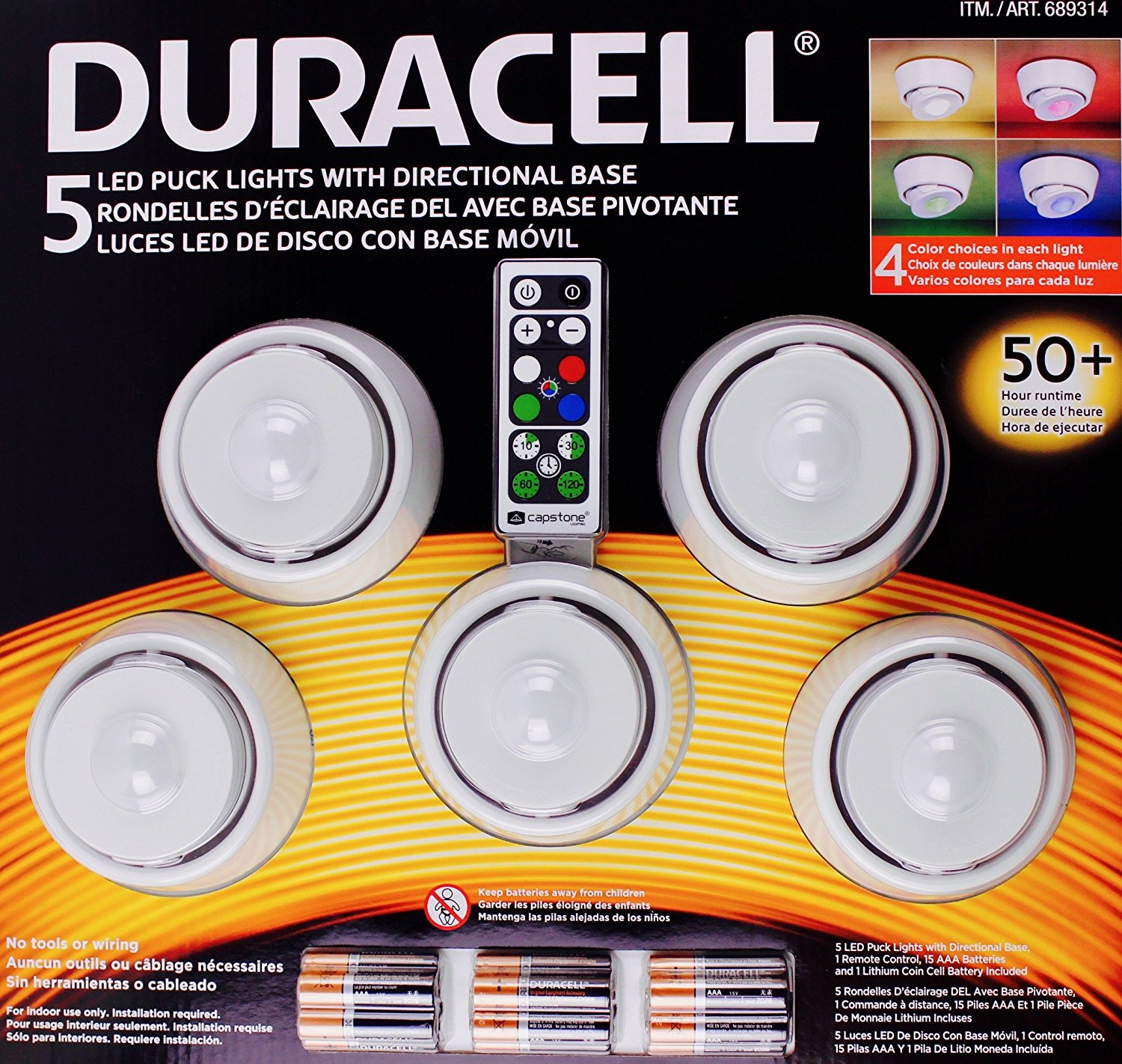 Duracell led puck lights with directional base 5 pack 631052004069 duracell led puck lights with directional base 5 pack aloadofball Images
