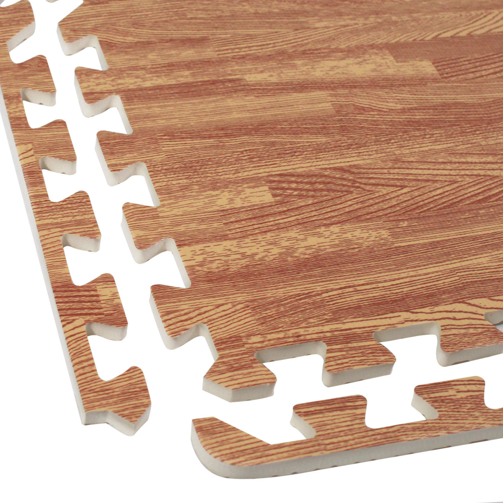 Wood Floor Padding Wood Foam Floor: Interlocking EVA Foam Wood Grain Puzzle Mat Floor Tiles 64