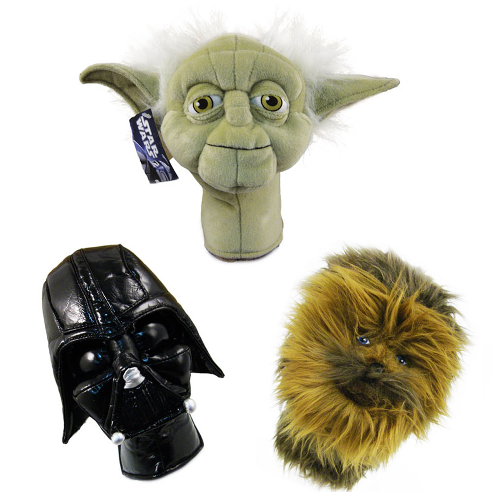 3pc Golf Head Cover Star Wars Collector Set 460cc Driver Wood Headcover