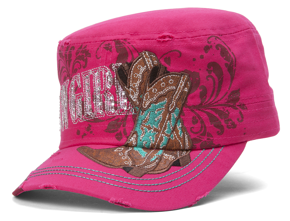 TopHeadwear-Cowgirl-Boots-Distressed-Cadet-Cap thumbnail 6