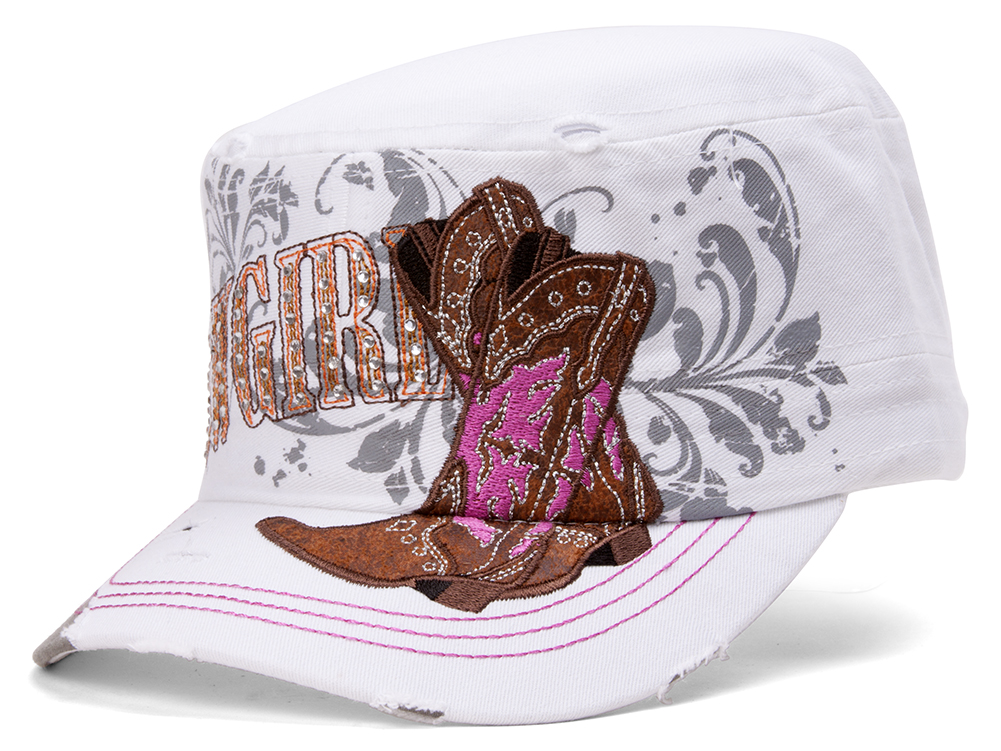 TopHeadwear-Cowgirl-Boots-Distressed-Cadet-Cap thumbnail 12