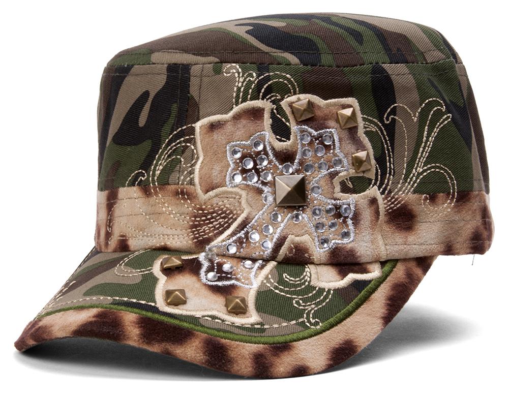 TopHeadwear-Animal-Print-Cross-Distressed-Cadet-Cap thumbnail 5