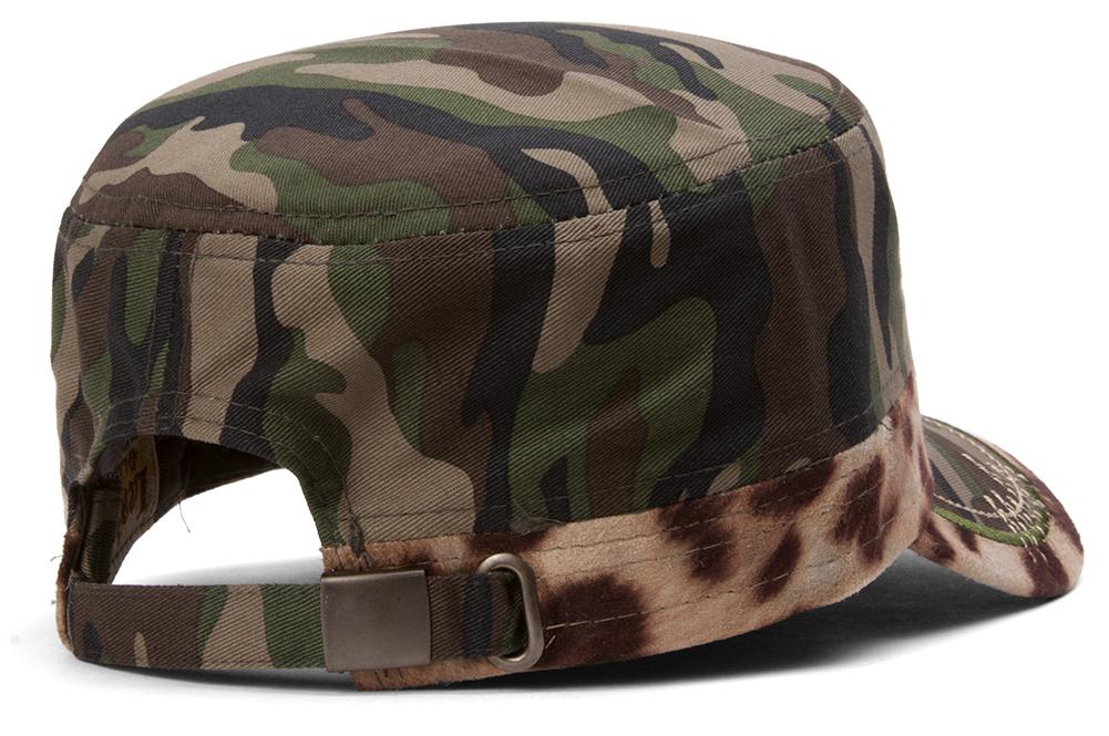 TopHeadwear-Animal-Print-Cross-Distressed-Cadet-Cap thumbnail 6
