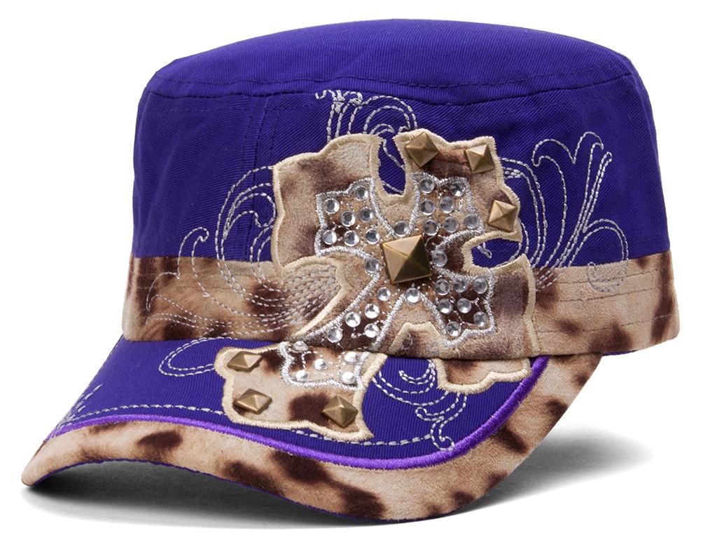 TopHeadwear-Animal-Print-Cross-Distressed-Cadet-Cap thumbnail 11
