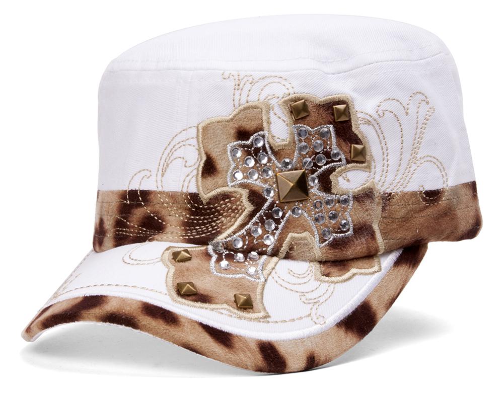 TopHeadwear-Animal-Print-Cross-Distressed-Cadet-Cap thumbnail 14