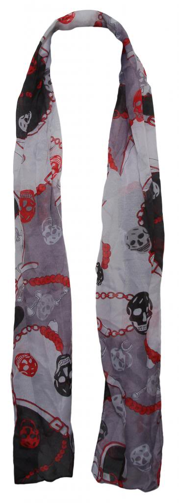 Womens-Skulls-and-Straps-Fashion-Scarf