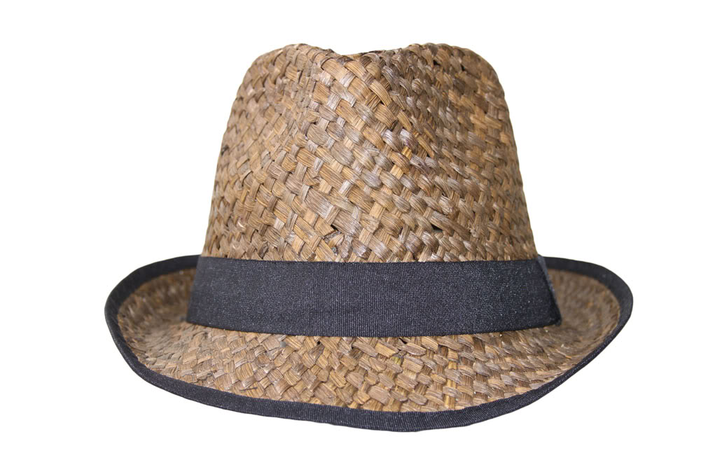 Colored Straw Fedora with Black Lining - Brown a1c18133b507